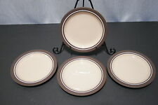 "LOT of Four HORNSEA England CORAL 6 1/4"" Bread + Butter  Plates EXCELLENT+"