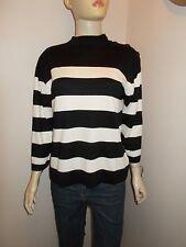Womens Wallis monochrome stripe turtle neck jumper sweater top size 18/20 46