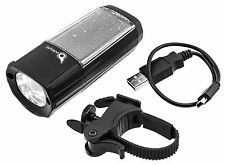 Owleye Solar High Power Bike Light Lamp Solar Charging LED Black New In Box