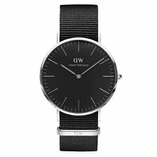 Daniel Wellington Watch DW00100151, 36mm SILV Case with Nato Black Band RRP$249