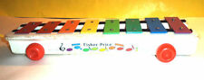 1950s Wooden Fisher Price Xylophone Pull Toy Nice Colors! Nice See!