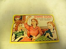 Vintage Sewing Susan Sewing Needle Assortment Card Book