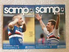 2 PROGRAMMI UFFICIALI CALCIO PARTITE SAMPDORIA VS. INTER F.C.  2007/08 E 2009/10