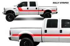 Vinyl Decal Rally Stripes Wrap Kit for Ford F-250/F-350 Truck 99-06 Light Red