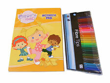 CHLOES CLOSET COLOUR / COLOURING ACTIVITY BOOK PAD AND 30 COLOUR FELT TIP PENS