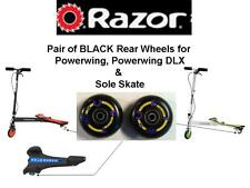 NEW Razor SOLE SKATE Rear Wheels Black with Graphics