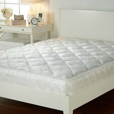 Concierge Collection Jacquard Mattress Enhancer Pad with Quilted Skirt -K 2J18H