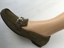 COLE HAAN OXFORD SILVERSTONE WOMEN'S LEATHER BUCKLE KHAKI SHOES SIZE 9 4 A