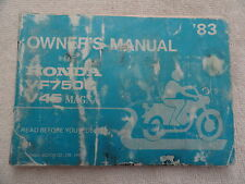 1983 Honda VF750   Owners Manual VF 750 C V45 Magna