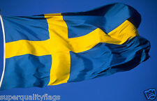 SWEDEN SWEDISH FLAG NEW 3x5 ft Made from outdoor satin type material. usa seller
