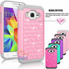 Bling Crystal Hybrid Case Cover For Samsung Galaxy Core Prime Prevail LTE G360