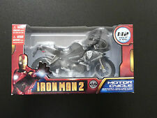 MARVEL AVENGERS IRONMAN 2 MOTORCYCLE DIECAST FIGURE BOXED