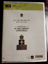 """""""WISHING YOU"""" Stampin'UP! NEW~CLEAR/CLING unmounted~Gifts~sayings~Christmas RARE"""