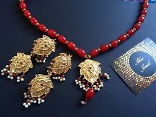 Indian  wedding jewellery set, gold Plated kundan earrings Pendant Jewelry