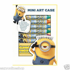 Minion Despicable Me Mini Art set Kids Creativity Minions Drawing Crayon Pens