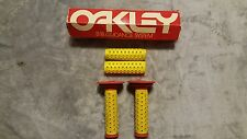 OLD SCHOOL BMX B1B OAKLEY GRIPS RED YELLOW GUIDANCE SYSTEM ORIGINAL VTG RARE