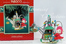 Enesco Holiday in Bloom Ornament Mouse Watering Can Treasury of Christmas Garden