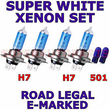 FITS AUDI A3 2007-ON  SET H7  H7  501 SUPER WHITE XENON LIGHT BULBS
