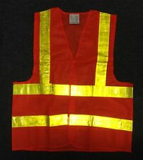 New Reflective Safety Vest Neon Orange High Visibility Construction Traffic Work