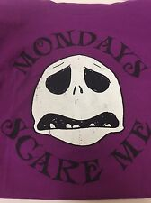 JACK SKELLINGTON Sz Large MONDAYS TEE DISNEY STORE NIGHTMARE B4 CHRISTMAS (G86)