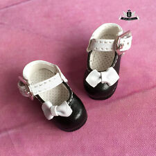 1/8 BJD Shoes LATI Dollfie DREAM DIM DOD AOD SOOM Tiny Shoes Lolita Black 3.5cm