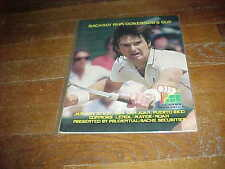 1984 Bacardi Rum Governor's Cup Tennis Program Jimmy Connors Cover Puerto Rico