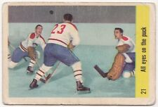 Jacques Plante In Action 1958/ '59 Parkhurst #21 All Eyes On The Puck- Canadiens