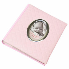 "BABY GIRL PINK faux leather photo album 200 foto 6 ""x 4"" LIBRO FOTOGRAFIA"