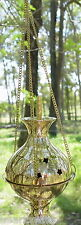 LARGE BRASS HANGING INCENSE BURNER THURIBLE Wicca Pagan Witch Herb Goth