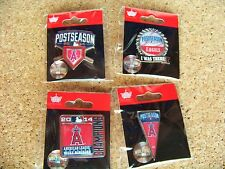 4 LA Los Angeles Angels of Anaheim 2014 postseason pins AL West Division Champs