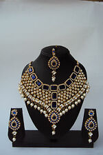 Designer Ethnic Indian Bollywood Bridal Wedding Fashion Jewelry Necklace Set