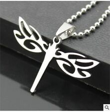 NEW 1PCS dragonfly Men's Silver 316L Stainless Steel Titanium Pendant Necklace