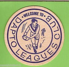 #D237.  DAPTO  RUGBY LEAGUE CLUB  DRINK  COASTER, WELCOME
