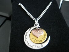 """New 10 x Love You to the Moon & Back Silver Plated 24 """" Necklaces & Gift Boxs"""