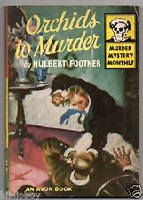 1946 Avon Murder Mystery Monthly Orchids to Murder by Hulbert Footner Lee Mappin