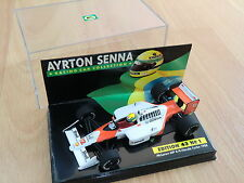 F1 SENNA MCLAREN HONDA MP4/4 WORLD CH. 1988 1/43 MINICHAMPS ASC N° 1 MC LAREN