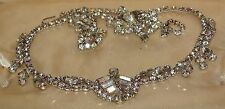 Vintage Rhinestone Necklace Demi Parure Chevron Juliana Style