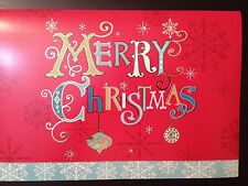 Holiday sparkling Handcrafted Christmas Cards- Box of 8 W/self-sealing Envelopes