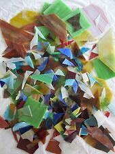 Stained Glass Pieces All Sizes Colors Some Vintage Quality Scrap 10+ lbs Crafts
