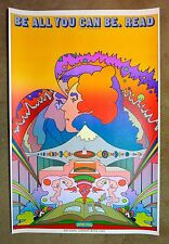 "1969 Original PETER MAX National Library Week Poster - 24""x36"", Pristine Cond"