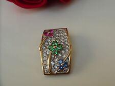 LEVIAN  14k YG Diamond, Tsavorite, Rhodolite Garnet & Sapphire Slide/Pendant