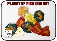 Planet of fire coin set resin scifi Who prop replica cosplay 5th doctor