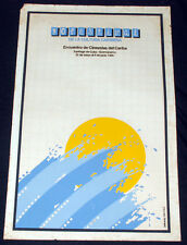 """1990 Original Cuban Movie Poster.Plakat.Affiche.affisch""""Caribbean art Festival"""