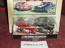 JL 1966 FORD MUSTANG SHELBY GT350H 2 CAR COLLECTOR SET RED & BLACK