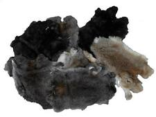 Assorted Natural color Rabbit Pelt Not Dyed Lot of 10 pelts Grade 5