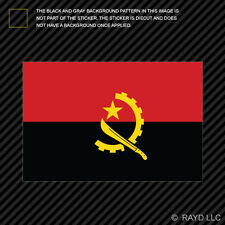 "4"" Angolan Flag Sticker Decal Self Adhesive Vinyl Angola AGO AO"