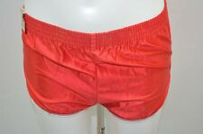SHORT DE COURSE GAY NYLON VINTAGE RETRO S ROUGE NEUF