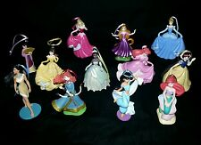 Disney Princess Deluxe Christmas Ornament Set 12 pc Merida Ariel Belle Rapunzel