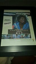 Macy Gray I Try Rare Original Radio Promo Poster Ad Framed!