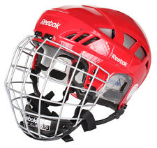 Reebok 7K ice hockey helmet and cage size small red new face mask combo sz sm